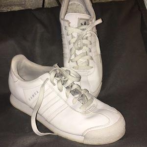 Adidas White in White Samoa Shoes